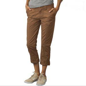 Prana Mari Capri brown cargo pants cropped